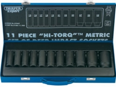 METRIC DEEP SOCKET SET 1/2 DR
