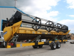 25ft Newholland Varifeed header & trolley demo
