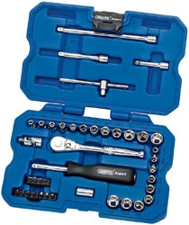 "1/4"" SQ.DRIVE SOCKET SET 40PCE"
