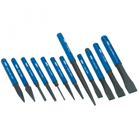 COLD CHISEL AND PUNCH SET (12 PIECE)
