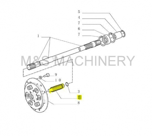 TM RC DAMPER SHAFT