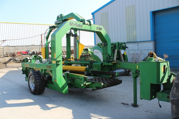 Mchale 998 square bale wrapper